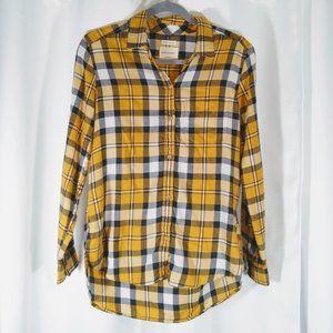 American Eagle Boyfriend Fit Soft Flannel Shirt, S